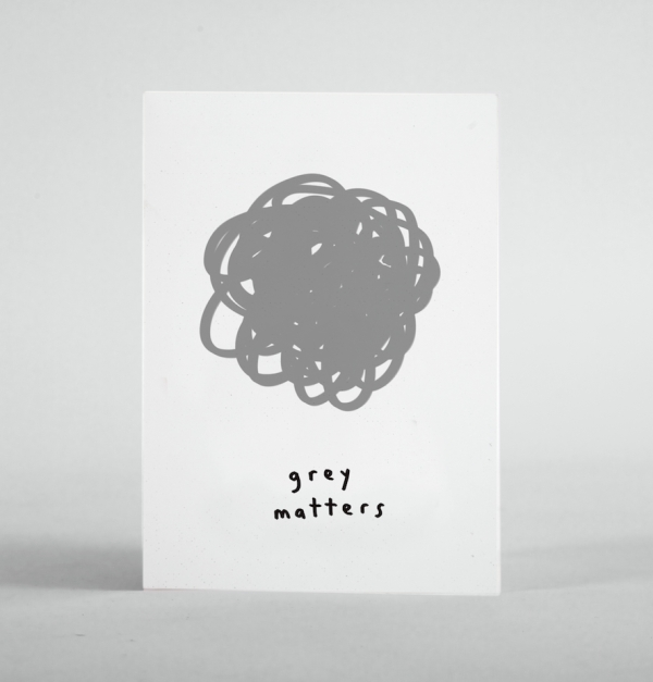 GREY MATTERS post card print mercedes leon merchesico