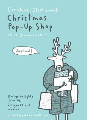 clerkenwell-christmas-greeting-merchesico illustration reindeer