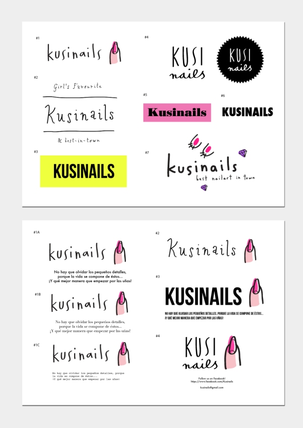 kusinails branding developement merchesico design illustration