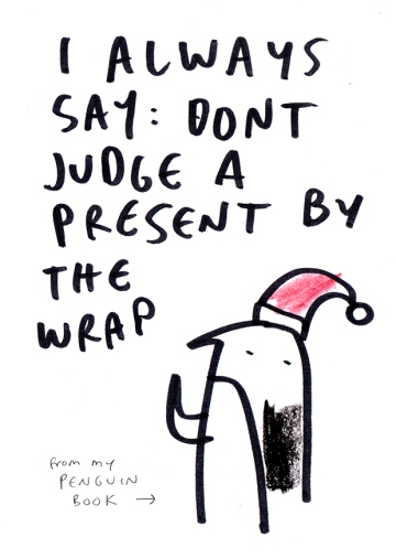 PENGUIN dont judge CHRISTMAS merchesico illustration