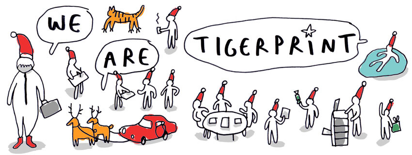 we-are-tigerprint-christmas greetings by merchesico