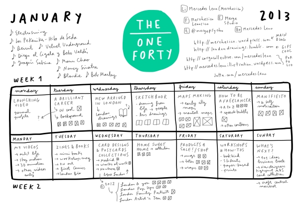 THE ONE FORTY 2 week planning_mercedes leon