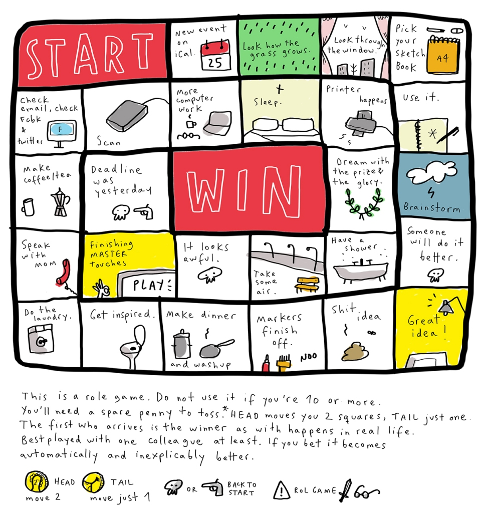 a game about drawing a game anorak magazine illustration mercedes leon merchesico 2013