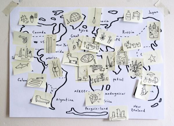 world map merchesico desk ideas
