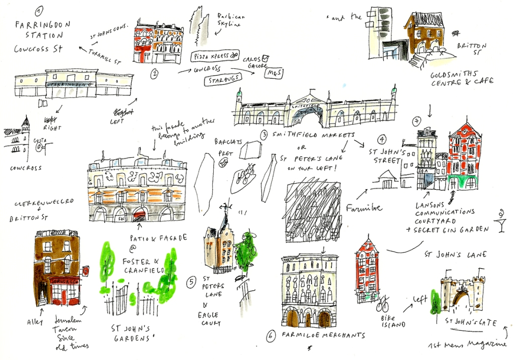 clerkenwell sketchbook mercedes leon illustration