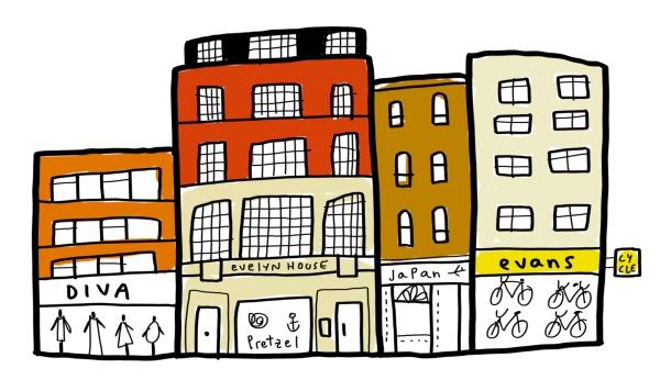 my office london fitzrovia new cavendish mercedes leon merchesico illustration