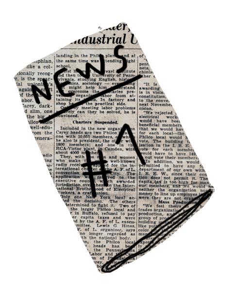 newspaper merchesico collage illustration
