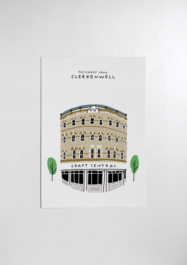 postcard from clerkenwell print craft central mercedes leon illustration