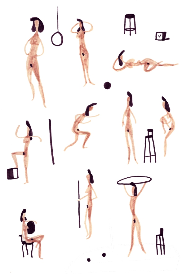 Nudes live drawing mercedes leon merchesico illustration