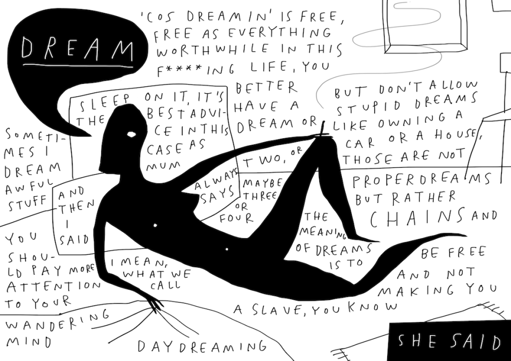 dream_1_she said mercedes leon merchesico zine illustration