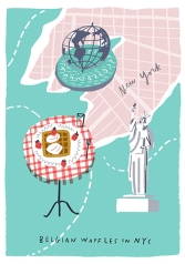 proof of life postcards mercedes leon illustration_nyc