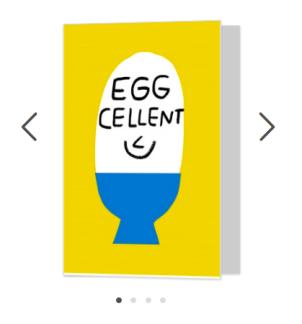 eggcellent fun greetings card moonpig merchesico illustration
