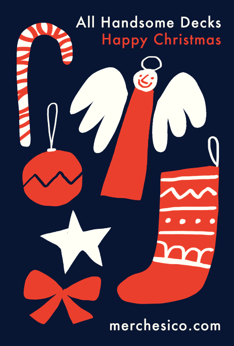 All handsome decks happy christmas retro fun illustration icons mercedes leon