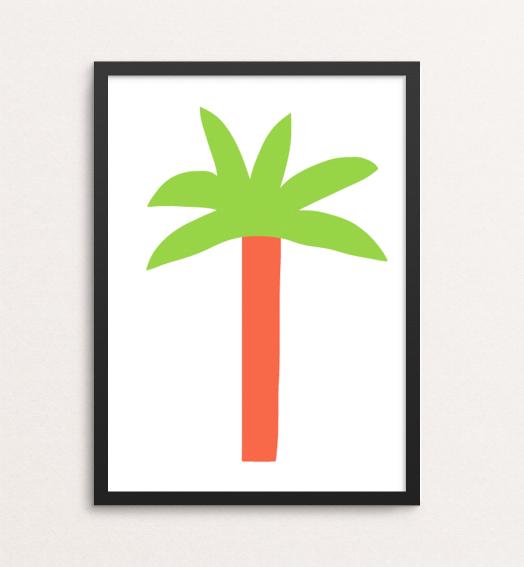 keep palm tree prints paradise merchesico illustration framed print